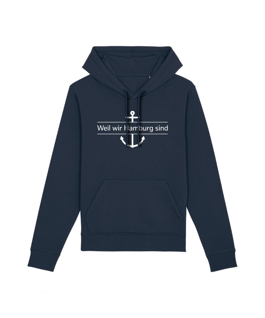 Hamburg Tourismus - Weil wir Hamburg sind - Unisex Hoodie - french navy