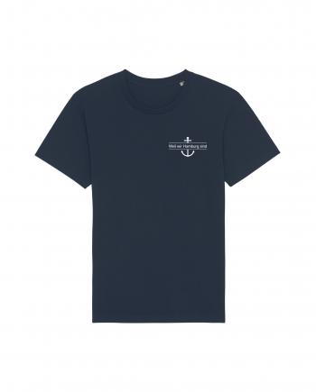 Hamburg Tourismus - Weil wir Hamburg sind - Herz - Unisex T-Shirt - french navy