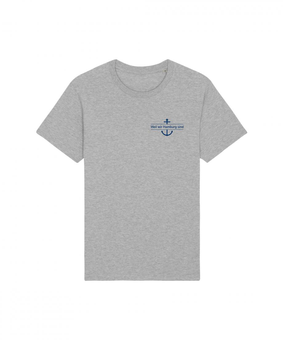 Hamburg Tourismus - Weil wir Hamburg sind - Herz - Unisex T-Shirt - grau meliert