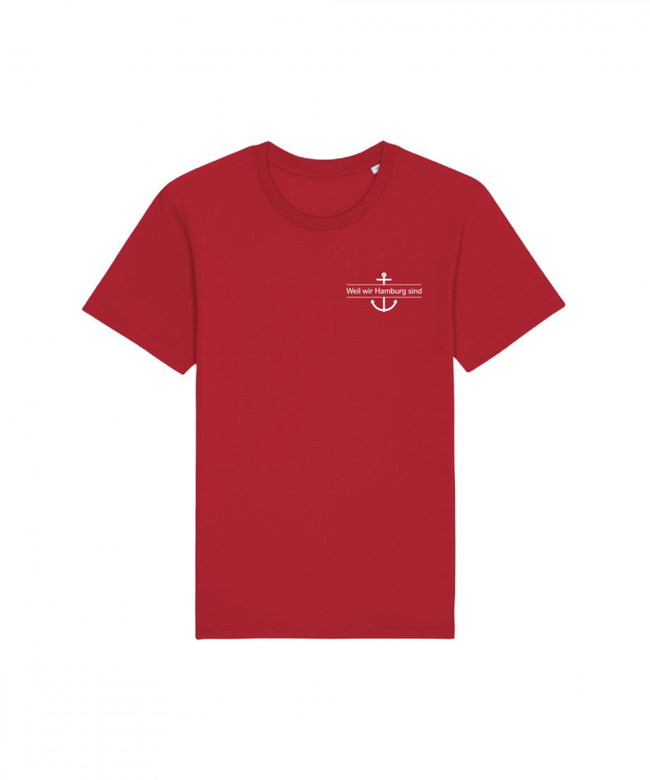 Hamburg Tourismus - Weil wir Hamburg sind - Herz - Unisex T-Shirt - rot