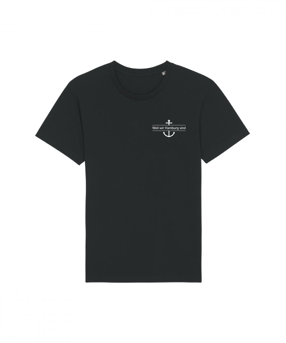 Hamburg Tourismus - Weil wir Hamburg sind - Herz - Unisex T-Shirt - schwarz