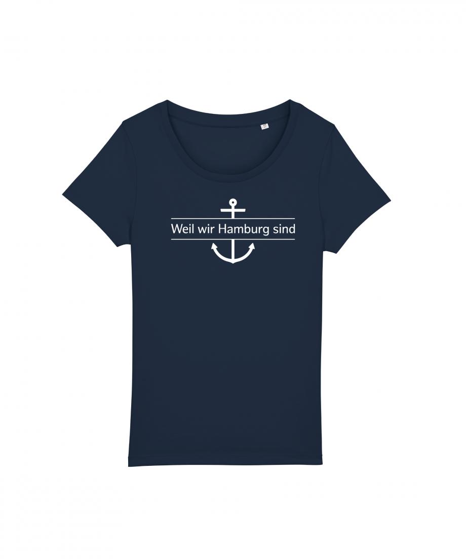 Hamburg Tourismus - Weil wir Hamburg sind - Damen T-Shirt - french navy