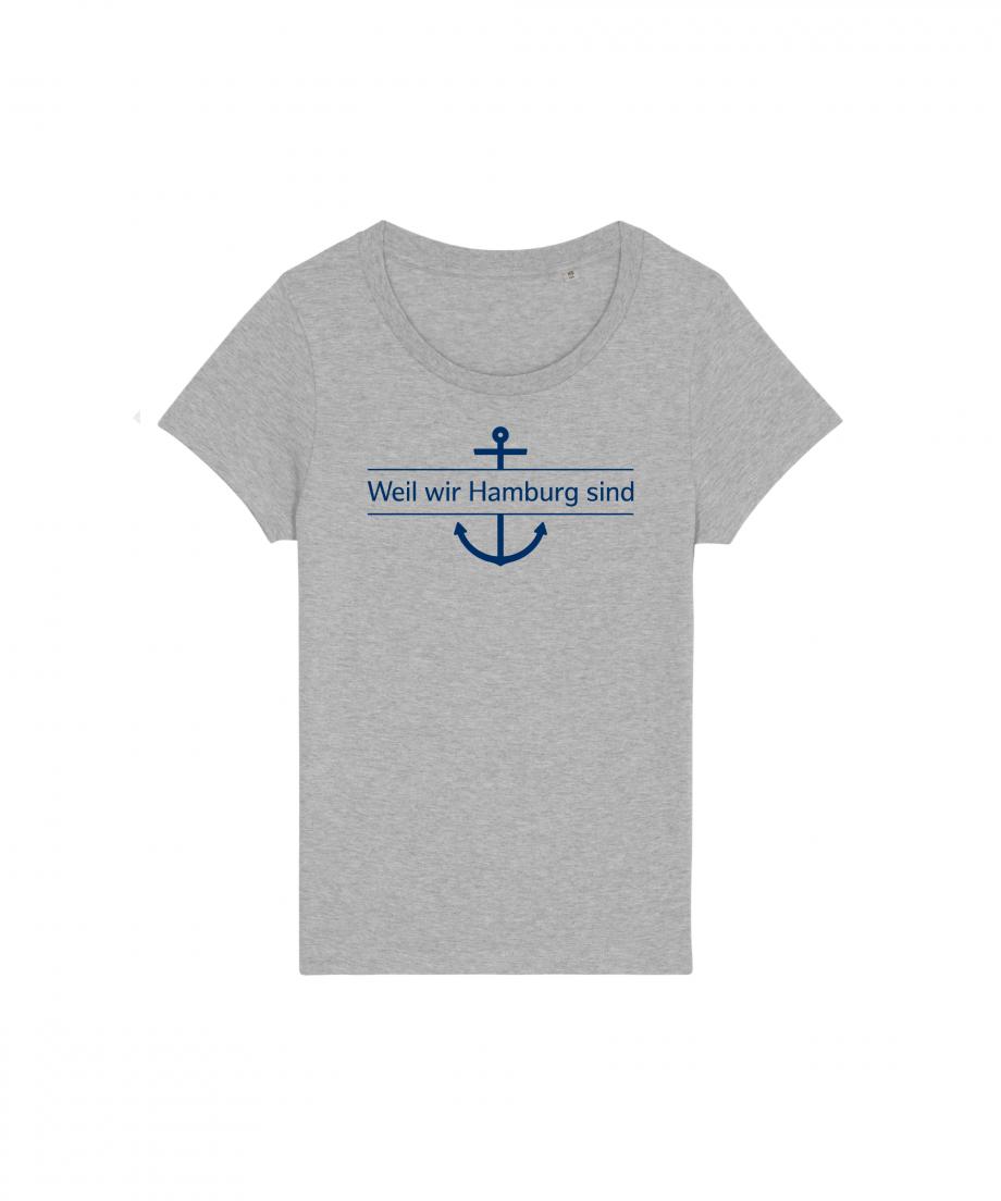 Hamburg Tourismus - Weil wir Hamburg sind - Damen T-Shirt - grau meliert