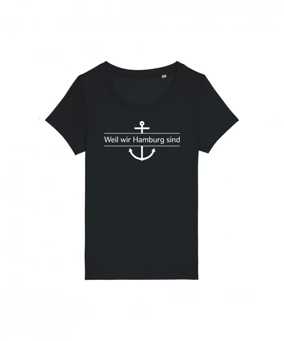 Hamburg Tourismus - Weil wir Hamburg sind - Damen T-Shirt - schwarz