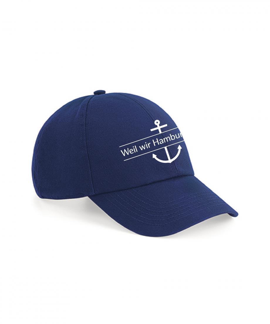 Hamburg Tourismus - Weil wir Hamburg sind - Basecap - french navy