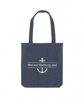 Weil wir Hamburg sind - Stoffbeutel navy